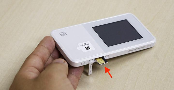 SIMカードの挿入位置