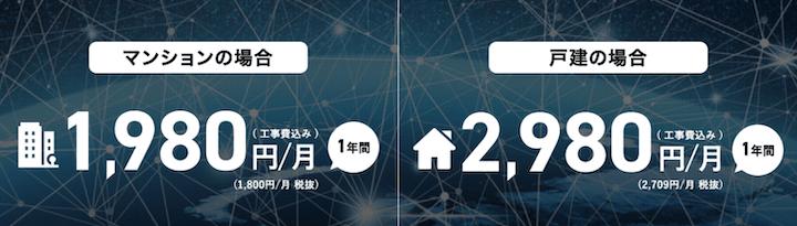 So-net光プラス 月額料金