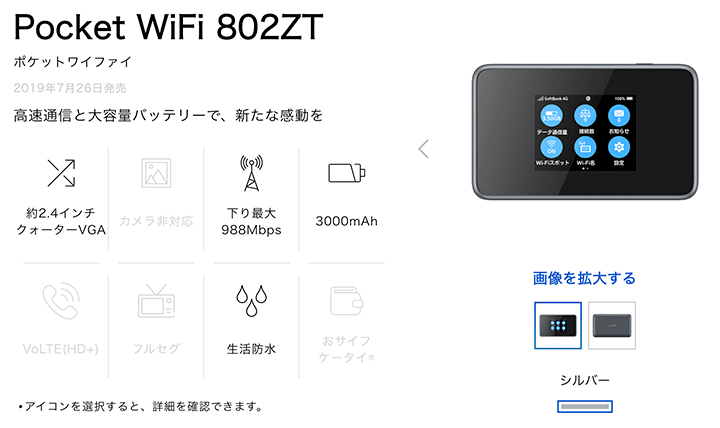 SoftBank Pocket WiFi 802ZT