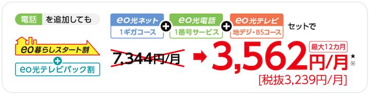 eo光テレビ 料金