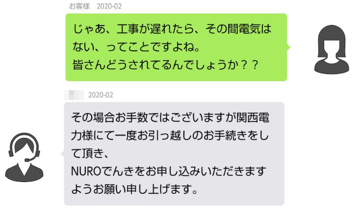 NUROでんき 問い合わせ