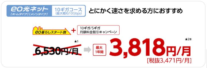 eo光 10ギガ キャンペーン