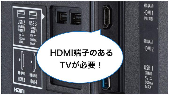 Amazonプライムビデオ HDMI端子