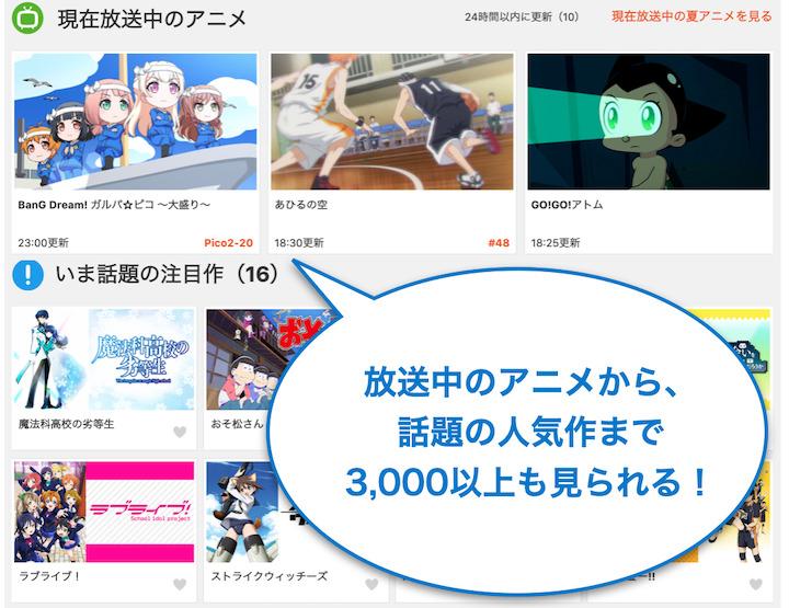 動画配信サービス dアニメストア