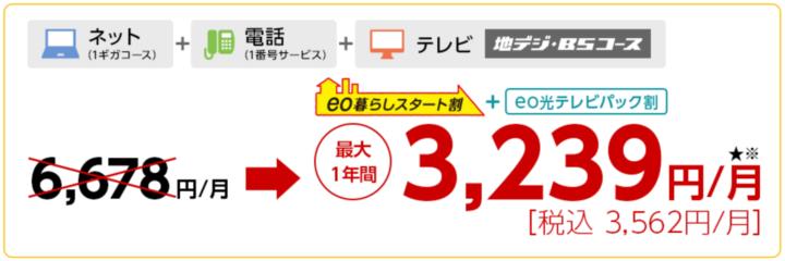 eo光テレビ 地デジBSコース