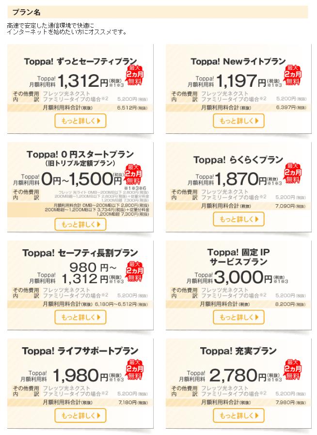 toppa プラン