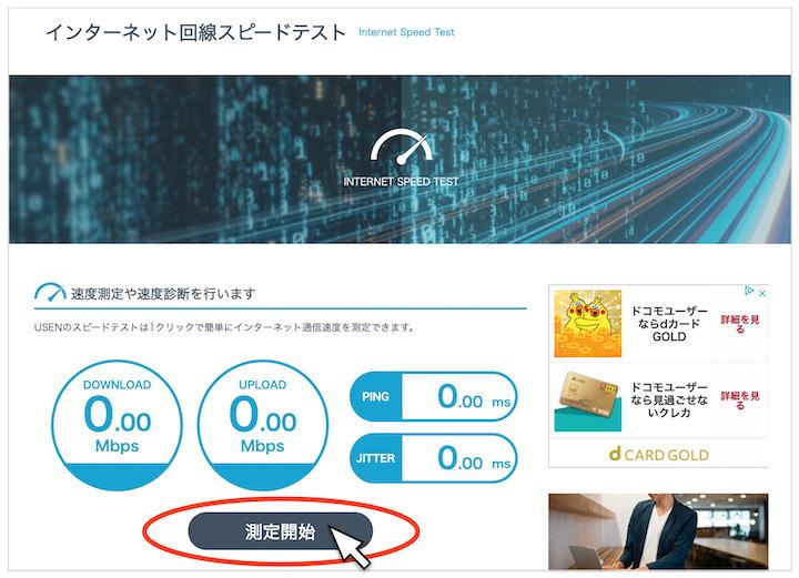 ADSL 速度測定