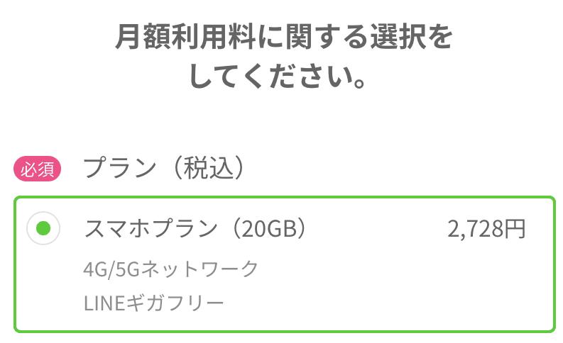 LINEMO 手順4