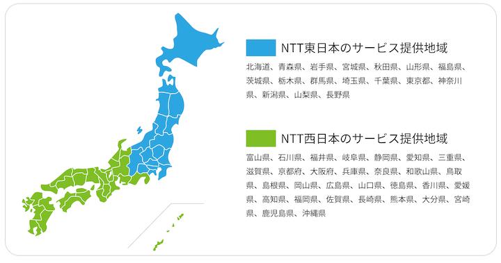 フレッツ光 東日本 西日本