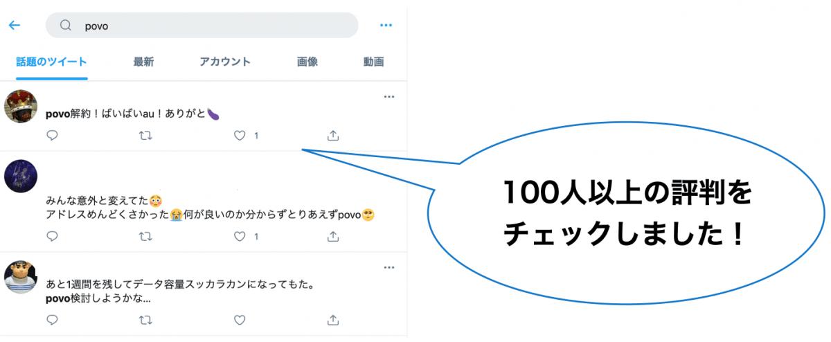 povo 評判・口コミ