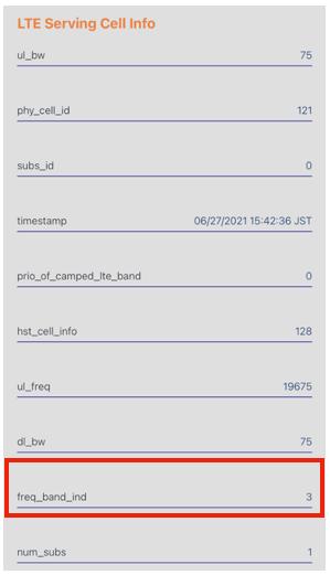 楽天モバイル iPhoneで楽天回線かパートナー回線かを調べる方法3
