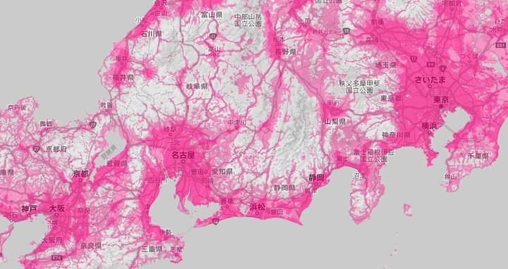 楽天モバイル エリアマップ 6月