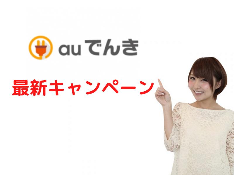 auでんき キャンペーン